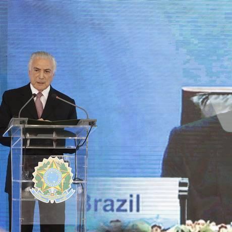 O presidente Michel Temer Foto: Jorge William / Agência O Globo 15/05/2017