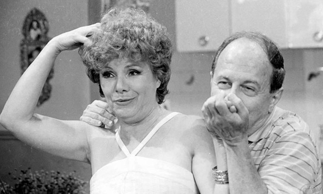 A atriz com Renato Pedrosa em cena de 'Brilhante' (1981) Foto: Reprodução/Memória Globo