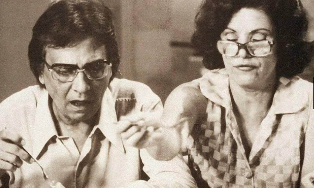 Eloísa Mafalda interpretando Nenê ao lado de Jorge Dória como Lineu na primeira versão de 'A grande família' de 1970 Foto: Cedoc/Funarte