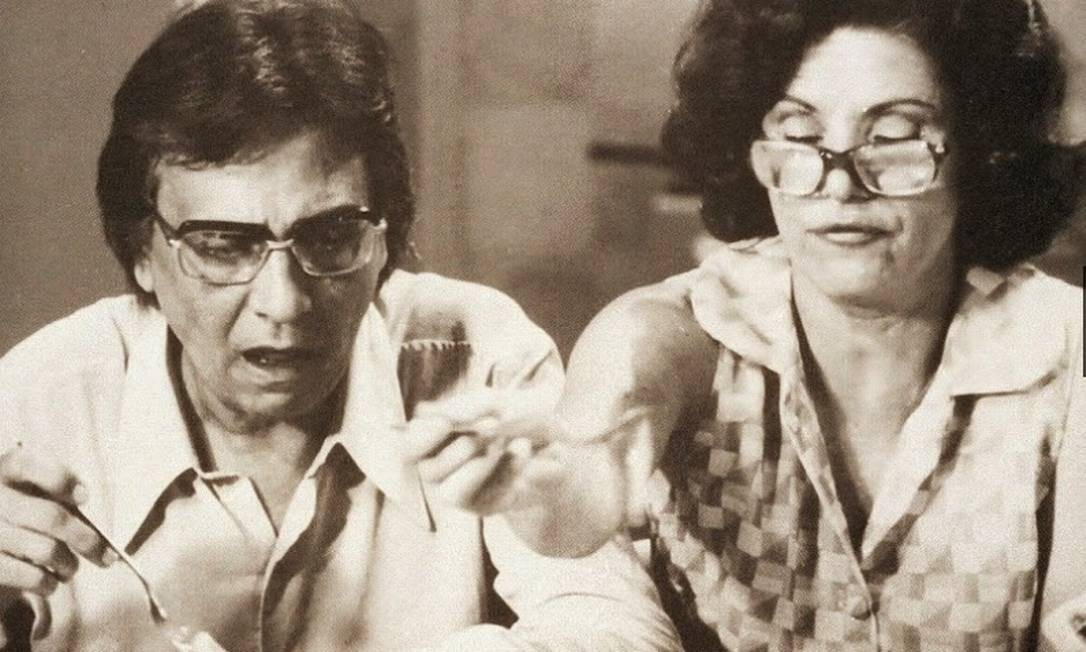 Eloísa Mafalda interpretando Nenê ao lado de Jorge Dória como Lineu na primeira versão de 'A grande família' de 1970 Cedoc/Funarte
