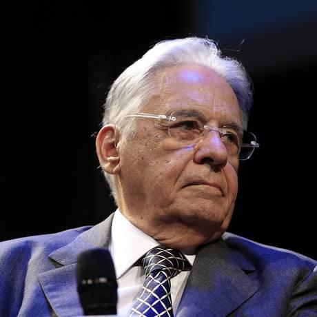 O ex-presidente Fernando Henrique Cardoso, durante participação de fórum, em São Paulo Foto: Edilson Dantas / Agência O Globo (27/02/2018)