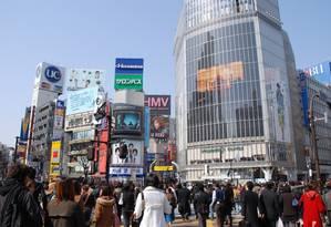 O famoso cruzamento de Shibuya, em Tóquio Foto: JNTO / Divulgação