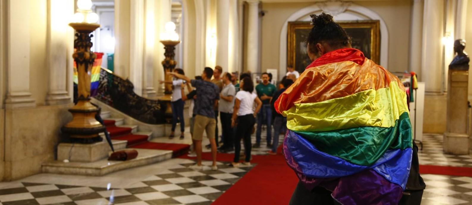 Solenidade em comemoração ao Dia Internacional contra a LGBTfobia Foto: Agência O Globo