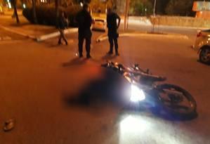 O bandido morto em Niterói Foto: Comando Militar di Leste / Divulgação