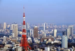 Tokyo Tower se destaca no centro da capital japonesa Foto: JNTO / Divulgação