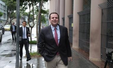 O ex-prefeito Eduardo Paes Foto: Márcio Alves / Agência O Globo 08/03/2018