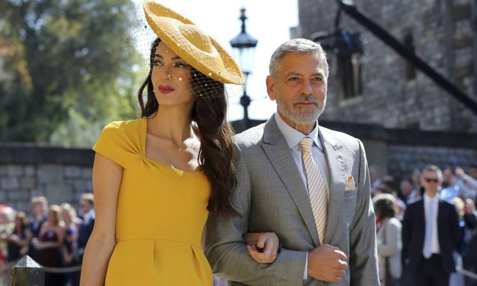 Entre as 600 pessoas convidadas para o casamento do príncipe Harry e Meghan Markle, não faltam famosos. Amal Clooney e George Clooney, por exemplo, estão na lista Foto: Gareth Fuller / AP