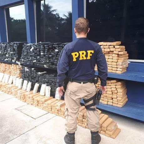 A ação faz parte da operação Égide, que reforça o policiamento nas rodovias federais do estado Foto: Divulgação/PRF