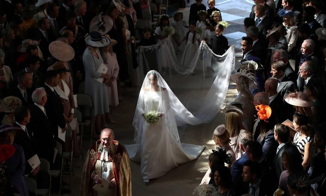 Meghan Markle chega para seu casamento com Principe Harry na Capela de São Jorge em Windsor Castle, Windsor Foto: POOL / REUTERS