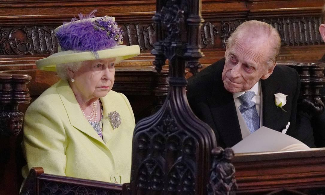 Rainha Elizabeth II e Príncipe Phillip durante o casamento Foto: POOL / REUTERS