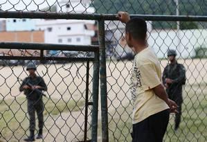 Forças de segurança realizam operação em comunidades da Praça Seca desde o início da madrugada Foto: Pablo Jacob / Pablo Jacob
