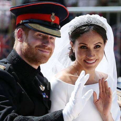Harry e Meghan, agora duque e duquesa de Sussex: tradição e modernidade Foto: AARON CHOWN / AFP