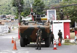 Operação das forças de segurança na comunidade do Bateau Mouche Foto: Pablo Jacob