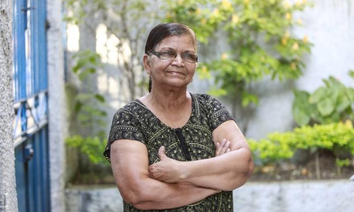 Joana Pereira da Silva, de 66 anos: compromisso com o voto Foto: Marcos Ramos / Agência O Globo