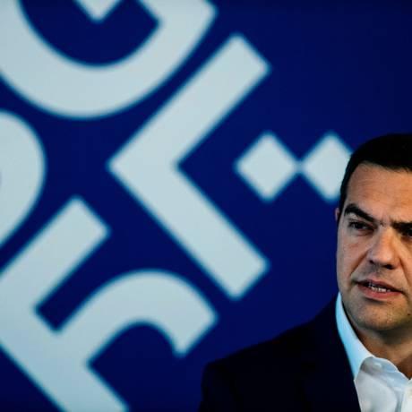 Primeiro ministro grego, Alexis Tsipras, acompanha as negociações Foto: DIMITAR DILKOFF / AFP PHOTO / Dimitar DILKOFF