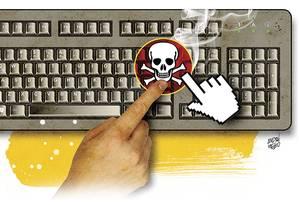 Links maliciosos geralmente são fruto de técnica chamada de engenharia social, na qual hackers enviam mensagens de e-mail que tentam enganar usuários da rede para roubar seus dados Foto: Ilustração de André Mello/Editoria de Arte