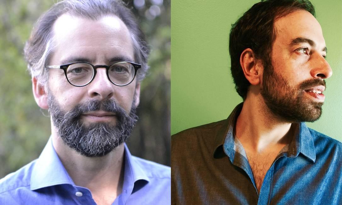 """Mauricio Lyrio (à esquerda) e Jacques Fux: ficções sobre o """"primeiro"""" Nobel de Literatura brasileiro Foto: Divulgação / Agência O GLOBO"""