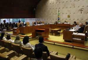 Discussão sobre o foro privilegiado voltará ao plenário do STF Foto: Jorge William / Agência O Globo