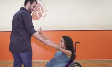 Vitória de Deus em aula da escola de dança Foto: Roberto Moreyra