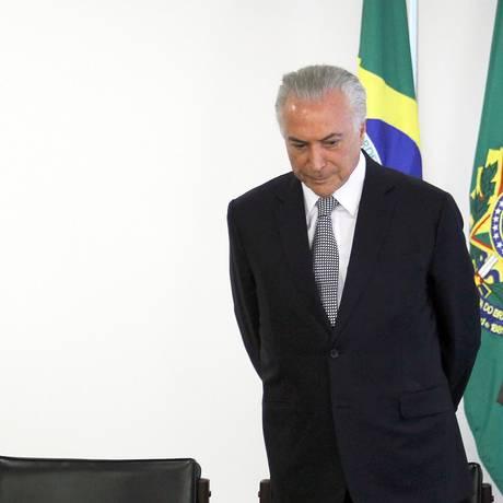 Presidente Michel Temer participa da solenidade de assinatura para a liberação de recursos para obra do município de Teresina Foto: Jorge William / Agência O Globo
