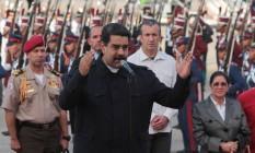 Presidente reeleito da Venezuela, Nicolás Maduro, em 2017 Foto: HANDOUT / REUTERS