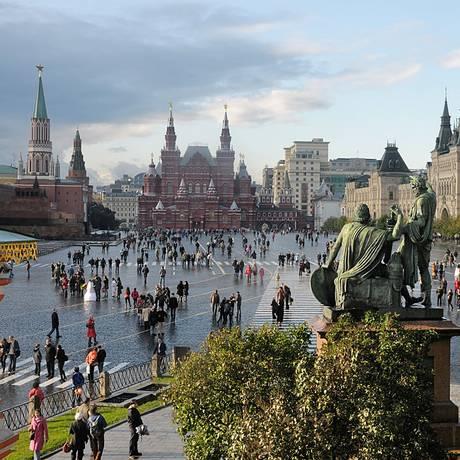 Praça Vermelha, em Moscou, na Rússia Foto: Christophe Meneboeuf