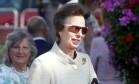 Princesa Anne surge com óculos esportivos da Adidas Foto: Chris Jackson / Getty Images