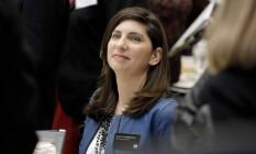 Stacey Cunningham, primeira mulher a se tornar presidente da mais famosa Bolsa de Valores do mundo. Foto: Peter Foley/Bloomberg/31-1-2018 Foto: Peter Foley / Bloomberg