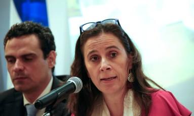 Agente Antonia Urrejola fala durante apresentação de relatório da Comissão Interamericana de Direitos Humanos, em Manágua Foto: OSWALDO RIVAS / REUTERS