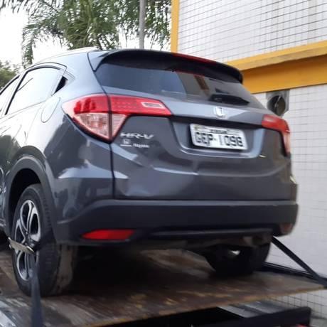 O carro usado pelo assaltante Foto: Divulgação