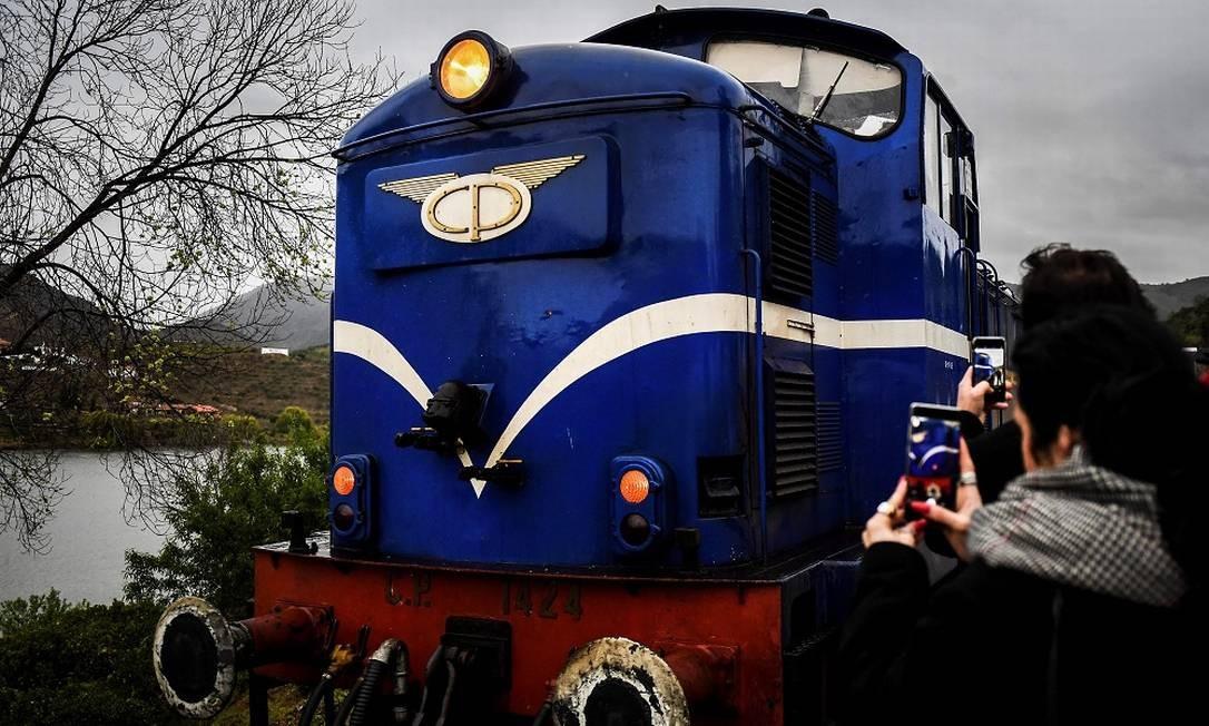 Quando não está realizando as viagens pelo Douro, na primavera e na vindima, o Comboio Presidencial pode ser visto no Museu Nacional Ferroviário, em Lisboa Foto: PATRICIA DE MELO MOREIRA / AFP