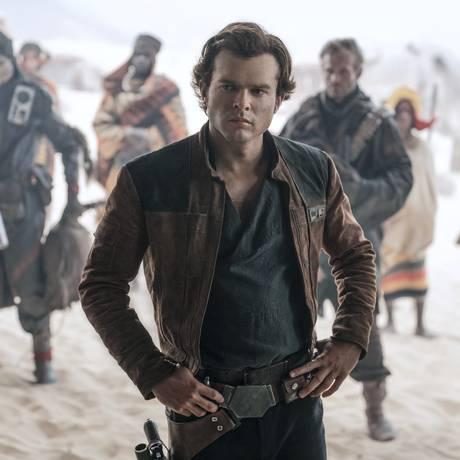Alden Ehrenreich é Han Solo em Uma história Star Wars Foto: Jonathan Olley / Jonathan Olley /Lucasfilm Ltd.