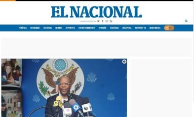 Portal digital do venezuelano 'El Nacional' Foto: Reprodução