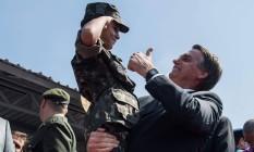 O deputado e pré-candidato à Presidência, Jair Bolsonaro Foto: NELSON ALMEIDA / AFP