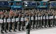 Soldados em formação antes operação de preparação para eleições presidenciais na Venezuela Foto: CARLOS JASSO / REUTERS