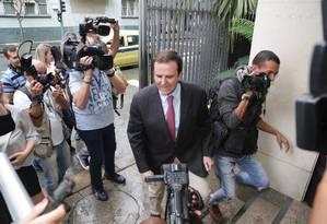 Ex-prefeito do Rio Eduardo Paes (DEM) Foto: Márcio Alves / Agência O Globo 08/03/2018