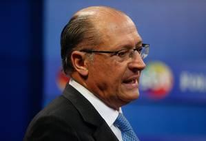 Geraldo Alckmin em sabatina Foto: Marcos Alves / Agência O Globo