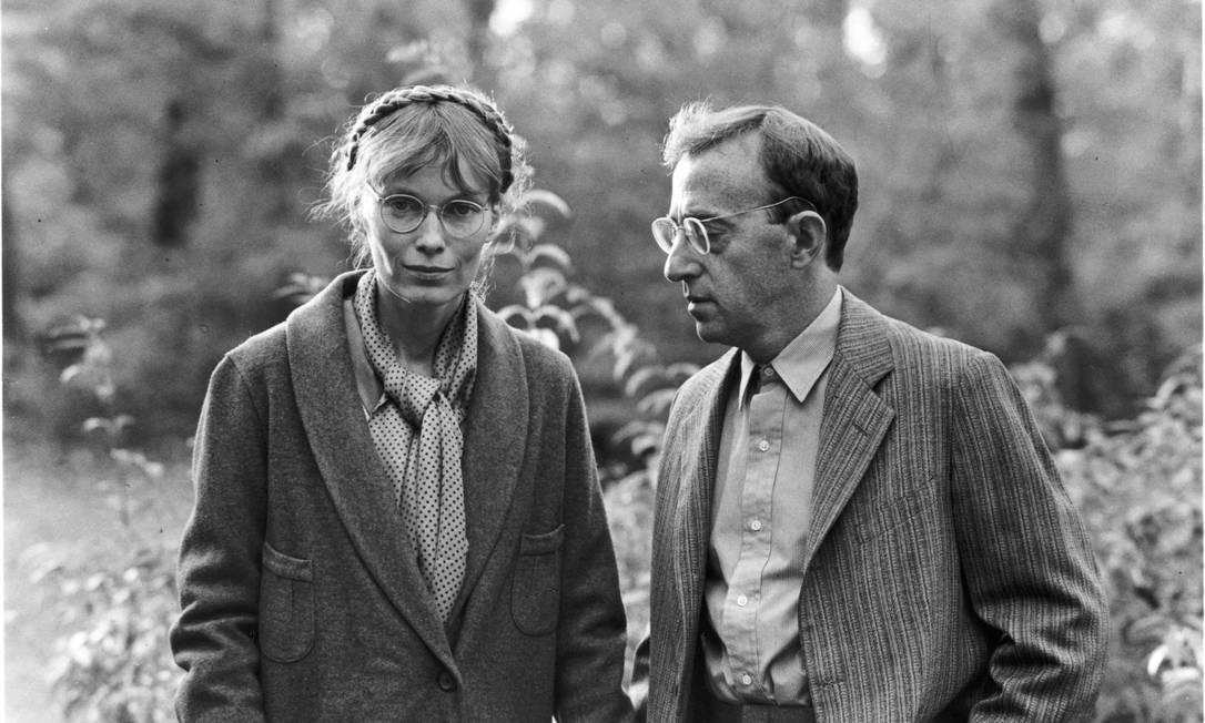 Mia Farrow e Woody Allen no filme 'Zelig', de 1983 Foto: Divulgação