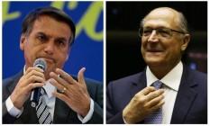 Os pré-candidatos à Presidência Jair Bolsonaro (PSL) e Geraldo Alckmin (PSDB) Foto: Arquivo O GLOBO
