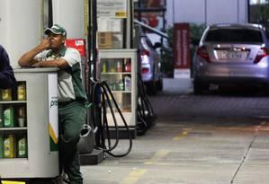 Posto sem combustível na Barra da Tijuca.Foto:Paulo Nicolella/Agência O Globo