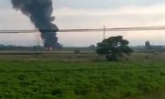Aeronave caiu perto da Cidade das Crianças, em Itaguaí Foto: Reprodução