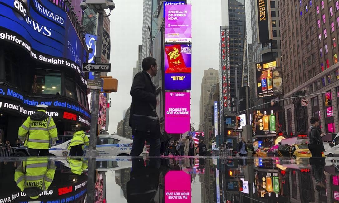 E de vez em quando chove também. Mas até assim Nova York é bonita Foto: Daniel Marenco / O Globo