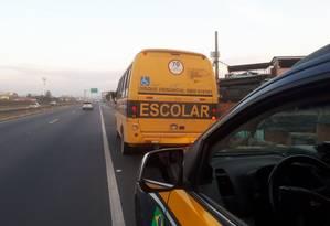 Ônibus escolar apreendido pela PRF Foto: Divulgação/PRF