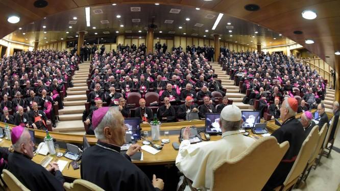Papa Francisco abre reunião da Conferência Episcopal Italiana Foto: OSSERVATORE ROMANO / REUTERS/21-5-2018