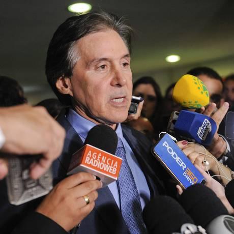 O presidente do Senado, Eunício Oliveira (MDB-CE), durante entrevista Foto: Jonas Pereira/Agência Senado