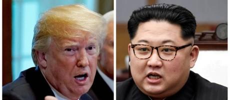 Montagem coloca lado a lado o presidente dos EUA, Donald Trump, e o líder supremo norte-coreano, Kim Jong-un Foto: REUTERS FILE PHOTO / REUTERS