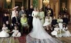 Retrato oficial da família real no casamento de Harry e Meghan Foto: ALEXI LUBOMIRSKI / AFP