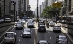 Avenida Paulista: Prefeitura de São Paulo decretou estado de emergência. Foto: Fotoarena / Agência O Globo