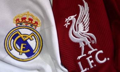 Real Madrid e Liverpool se enfrentam neste sábado pela final da Liga dos Campeões Foto: FRANCK FIFE / AFP