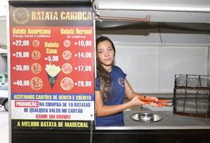 Yasmin Albuquerque, dona da famosa Batata de Marechal, lamenta a falta do produto Foto: Agência O Globo